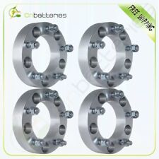 "4Pc 1.5"" thick 5x5.5 to 5x5.5 Wheel Spacers 1/2"" Studs For Dodge Ram 1500 Jeep"
