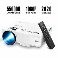XuanPad Mini Projector Portable video-projector,55000 Hours Multimedia Home