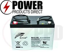 RITAR 12V 100A AGM BATTERY RA12100SD DEEP CYCLE SEALED 4X4 CAMPING CARAVAN