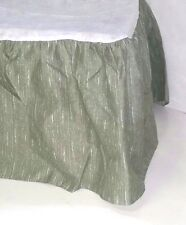 New Jc Penney Home Collection Twin Bed Skirt, Green/White print, free ship A10