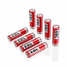 EBL 14500 Li-ion Rechargeable Batteries 3.7V 800mAh for LED Flashlight Torch NEW