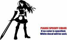 Fairy Tail Erza Scarlett Decal Sticker Funny Vinyl Car Window Bumper Truck 6""