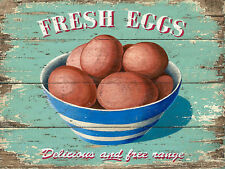 Fresh Eggs, Retro Vintage Aluminium Sign, Gift, Kitchen