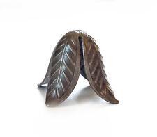 Antique Lead Nickel Cadmium Free Brass 17x22mm Tulip Flower Bead Caps Q8 per Pkg
