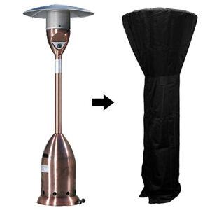 Black Gas Patio Heater Cover Protector Garden Waterproof Heavy Duty Oxford
