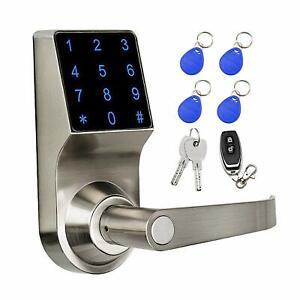 COLOSUS Keyless Digital Smart Door Lock for Home & Office, Touchscreen, Silver