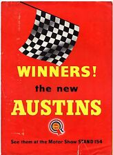 Austin 1954-55 UK Market Foldout Brochure A30 Cambridge Westminster Princess