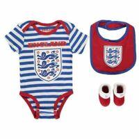 ENGLAND Football Team Stripe 3 Piece Set Baby 9-12 Months Kids Cute Gift A423-7