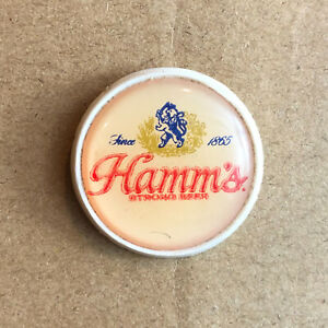 Hamm's Strong Beer Pinback Lapel Pin Since 1865 Breweriana Advertising Plastic