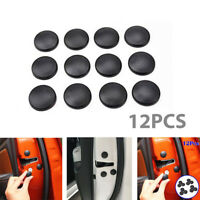 12x Universal Auto Car Interior Door Lock Screw Protector Cover Cap Trim Black