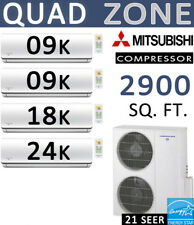 60000 BTU Ductless Mini Split Air Conditioner Heat Pump 9000 x2 + 18000 + 24000