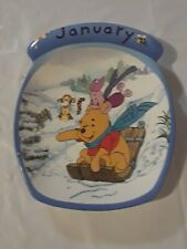 """January"" Plate in the Winnie the Pooh: The Whole Year Through Collection"