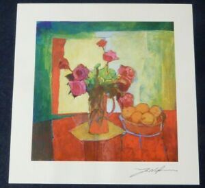 YUVAL WOLFSON - BREAKFAST TABLE SERIOLITHOGRAPH (WITH C of A)
