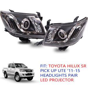 Fit Toyota Hilux SR 5 Vigo Kun Head Lamp light Led Ute Pickup 2012 13 - 15