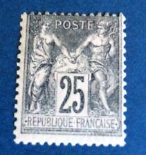 France N° 97 25 C Noir /rose Neuf * Infime Trace TB Cote 120€