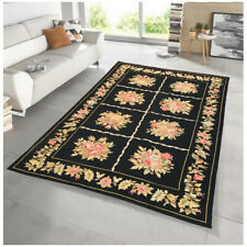 9388 Aubusson Pictorial Rug Handwoven Floral Needlepoint Kilim Afghan Rug 5x7