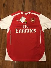 Puma Arsenal Soccer Home Replica Shirt Jersey Season 2014/2015 Size Large