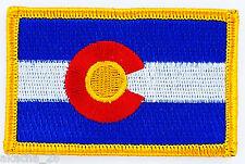 Ecusson Brodé PATCH drapeau COLORADO USA AMERICAIN ETATS UNIS FLAG EMBROIDERED