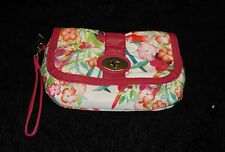 Cherry Blossoms Clutch Bag Purse whimsical flowers oriental New white and pink