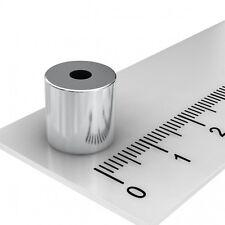 100x NEODYM RING MAGNET 10x10 mm MIT 3.1 mm BOHRUNG GRADE N45 POWERMAGNETE