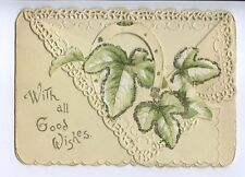 (AE92) With All Good Wishes, Delicate  New Year Card,  - Used