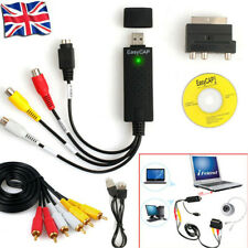 USB 2.0 Convert VHS VCR DV Camcorder to DVD via PC USB Video Capture Adapter UK