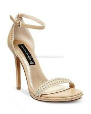 AS STEVE MADDEN ROGGERS Ladies Nude Leather Open Toe Leather Heels Shoes Size: 9