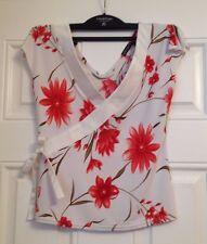 Evita Femmes Blanc/Floral Femme Taille 8 UK