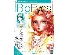 BIG EYES Tattoo Flash Design Book 64-Pages Sketch Black Color Art Supply
