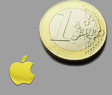 APPLE METALISSED GOLD EFFECT STICKER LOGO AUFKLEBER 8x10mm [648]