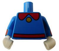 Lego Torso blau mit rot Hände weiss 973pb3514c01 Dagobert Duck Oberkörper Neu
