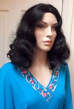 1970s Turquoise Bell-sleeved Maxi Dress UK 14