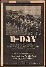 D-DAY - June 6, 1944__Original 1964 Trade AD / TV promo / poster__DAVID L WOLPER