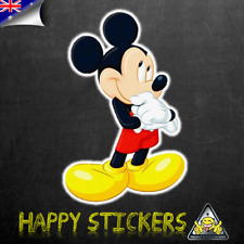 Mickey Mouse Thinking Luggage Car Skateboard Laptop Scooter Vinyl Decal Sticker