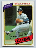 1980  BRUCE SUTTER - Topps Baseball Card # 17 - CHICAGO CUBS