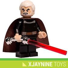 GENUINE LEGO STAR CLONE WARS Count Dooku Sith Lord Minifig + Lightsaber NEW RARE