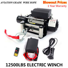 Classic 12500lbs 12V Electric Recovery Winch Truck SUV ATV Wireless Remote