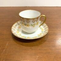Antique Haviland and Co Limoges France Demitasse Tea Cup and Saucer