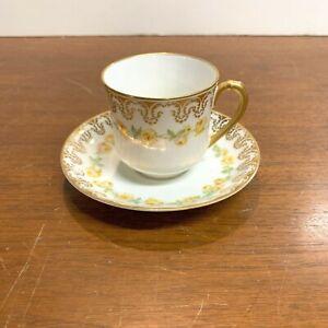 Antique Haviland and Co Limoges France Demitasse Tea Cup and Saucer