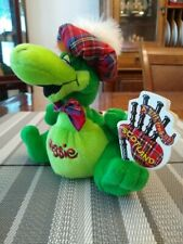 "heather Gift Company 7"" Plush Scotland Uk Nessie Lockness Monster Plaid Green"