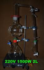 Essential oil steam distillation apparatus(filling entrance=40/38),220V