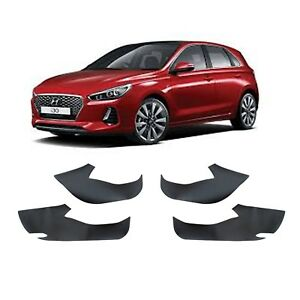 Carbon Fabric Inside Door Panel Pad for 2018 - 2019 Hyundai i30 PD Hatch.