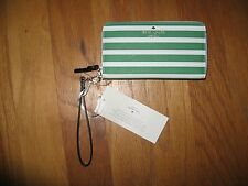Kate Spade fairmount square lacey white/green stripe zip around Wallet $148