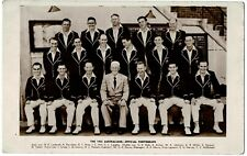 Official 1953 Australian Cricket Team England Ashes Tour Photo Postcard