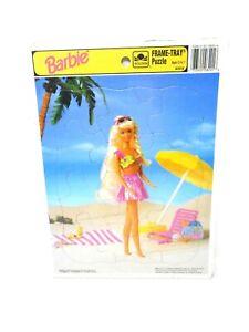 Vintage 1993 Frame Tray Puzzle BARBIE Beach Fun/ 8201B Mattel / Golden Books