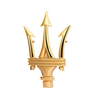 Maserati Gold Dreizack Emblem Logo Vorne Grill Haube Motorhaube Ghibli Levante