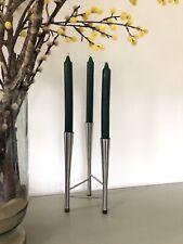 More details for robert welch old hall triple candle holder, campden, 1960's, vintage modernist