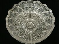 "VTG ABP American Brilliant Detail Cut Crystal Glass Bowl, 8 1/4"" D x 3 1/2"" H"
