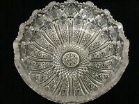 "VTG ABP American Brilliant Detail Cut Crystal Glass Bowl, 8 1/4"" D x 3 1/2"" H"