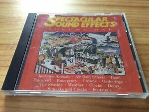 RARE! SPECTACULAR SOUND EFFECTS: VOLUME ONE - AUDIO SAMPLE CD (1993)